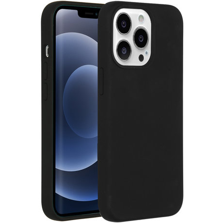 Accezz Liquid Silicone Backcover met MagSafe iPhone 13 - Black (D)