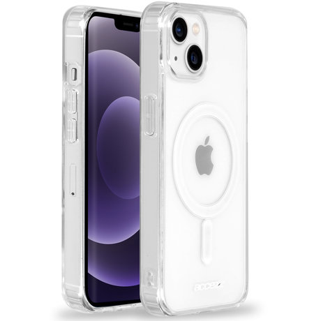 Accezz Clear Backcover met MagSafe iPhone 13 - Transparent (D)