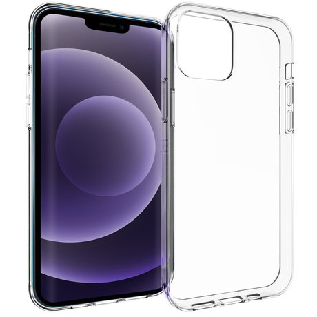 Accezz Clear Backcover iPhone 13 - Transparant (D)
