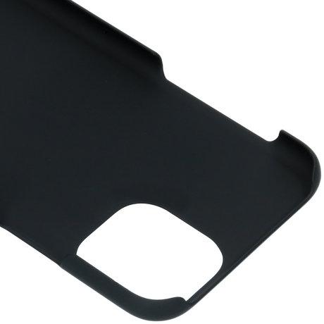 Effen Backcover iPhone 11 Pro - Zwart (D)