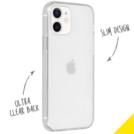 Accezz Clear Backcover iPhone 12 Mini - Transparant (D)