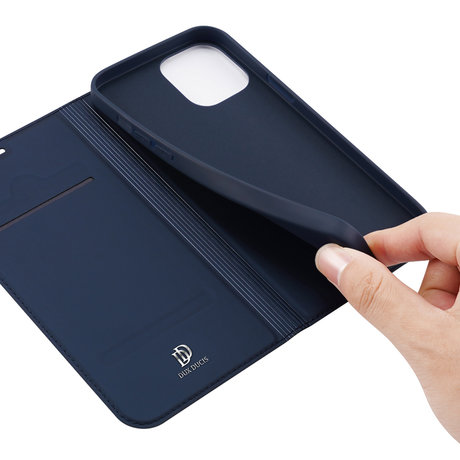 Dux Ducis Slim Softcase Booktype iPhone 12 (Pro) - Donkerblauw (D)
