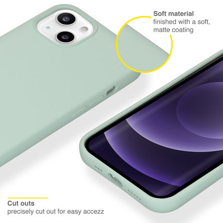 Accezz Liquid Silicone Backcover iPhone 13 - Sky Blue (D)