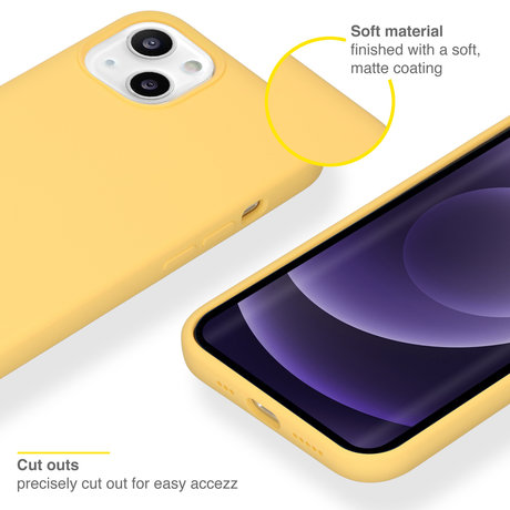 Accezz Liquid Silicone Backcover iPhone 13 - Geel (D)