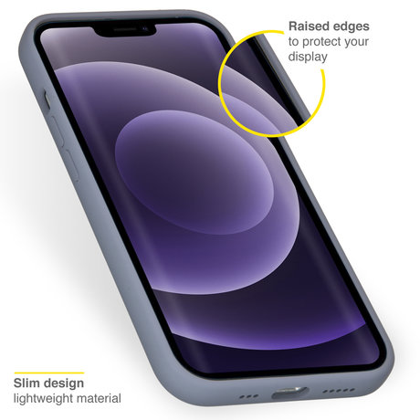 Accezz Liquid Silicone Backcover iPhone 13 - Lavender Gray (D)