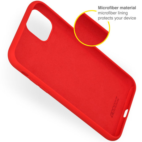 Accezz Liquid Silicone Backcover iPhone 13 - Rood (D)