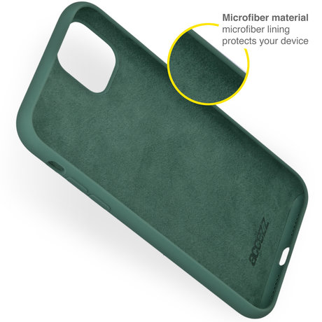 Accezz Liquid Silicone Backcover iPhone 13 Mini - Donkergroen (D)