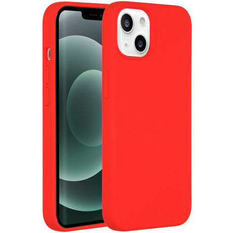 Accezz Liquid Silicone Backcover iPhone 13 Mini - Rood (D)