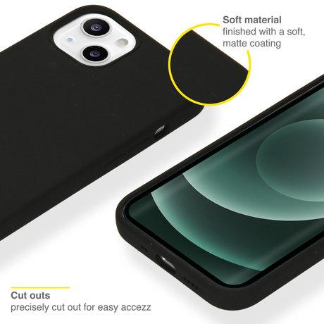 Accezz Liquid Silicone Backcover iPhone 13 Mini - Zwart (D)