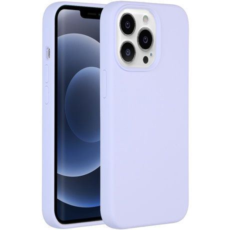 Accezz Liquid Silicone Backcover iPhone 13 Pro - Paars (D)