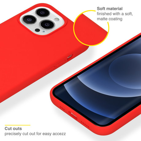 Accezz Liquid Silicone Backcover iPhone 13 Pro - Rood (D)