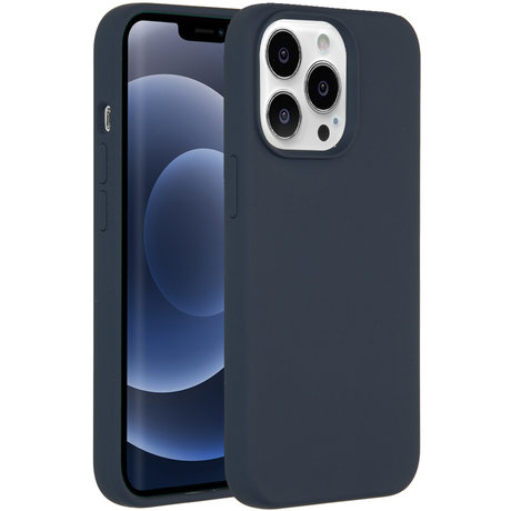 Accezz Liquid Silicone Backcover iPhone 13 Pro - Donkerblauw (D)
