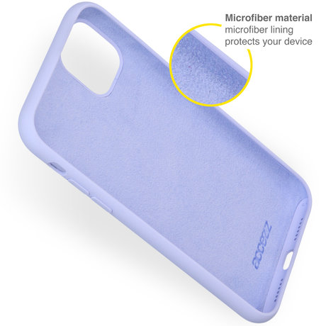 Accezz Liquid Silicone Backcover iPhone 13 Pro Max - Paars (D)