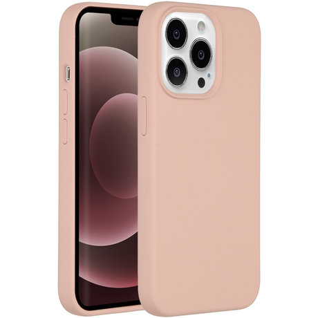 Accezz Liquid Silicone Backcover iPhone 13 Pro Max - Roze (D)