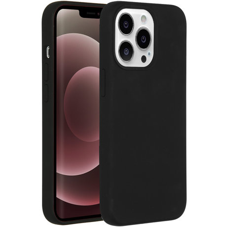 Accezz Liquid Silicone Backcover iPhone 13 Pro Max - Zwart (D)