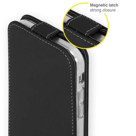 Accezz Flipcase iPhone 13 Pro - Zwart (D)