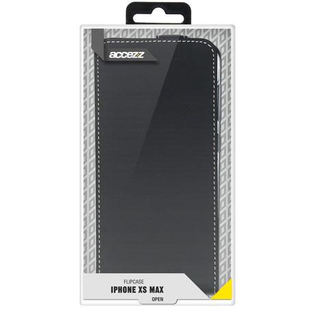 Accezz Flipcase iPhone Xs Max - Zwart (D)