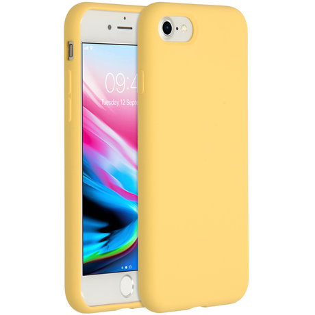 Accezz Liquid Silicone Backcover iPhone SE (2020) / 8 / 7 - Yellow (D)