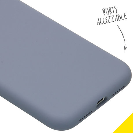Accezz Liquid Silicone Backcover iPhone 11 - Lavender Gray (D)