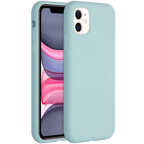 Accezz Liquid Silicone Backcover iPhone 11 - Sky Blue (D)