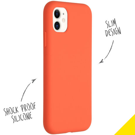 Accezz Liquid Silicone Backcover iPhone 11 - Nectarine (D)