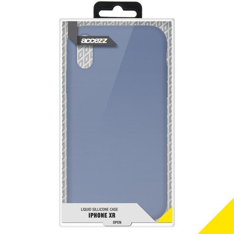 Accezz Liquid Silicone Backcover iPhone Xr - Lavender Gray (D)