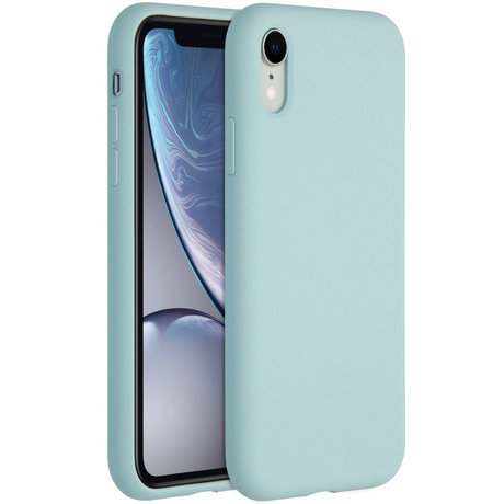 Accezz Liquid Silicone Backcover iPhone Xr - Sky Blue (D)