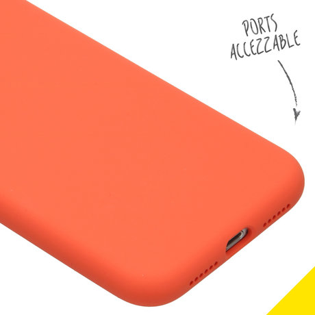 Accezz Liquid Silicone Backcover iPhone Xr - Nectarine (D)