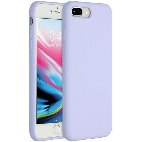 Accezz Liquid Silicone Backcover iPhone 8 Plus / 7 Plus - Lilac (D)