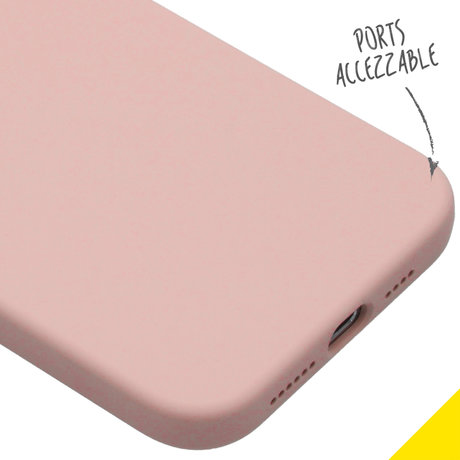 Accezz Liquid Silicone Backcover iPhone 12 Pro Max - Roze (D)