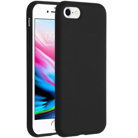 Accezz Liquid Silicone Backcover iPhone SE (2020) / 8 / 7 - Zwart (D)