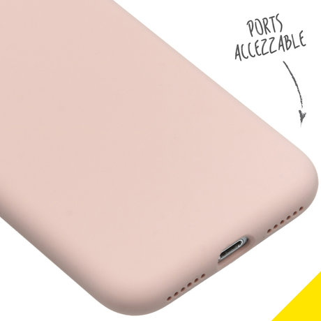 Accezz Liquid Silicone Backcover iPhone SE (2020) / 8 / 7 - Roze (D)