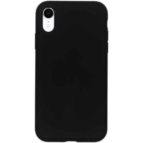 Accezz Liquid Silicone Backcover iPhone Xr - Zwart (D)