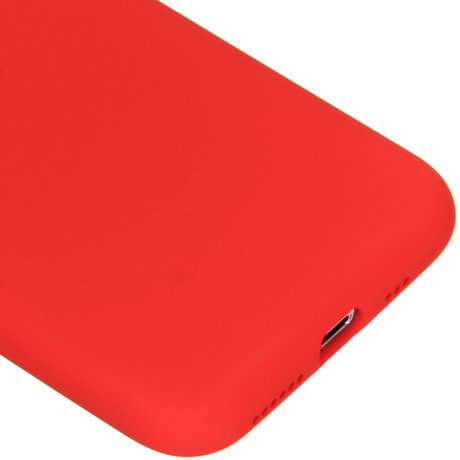 Accezz Liquid Silicone Backcover iPhone Xs / X - Rood (D)