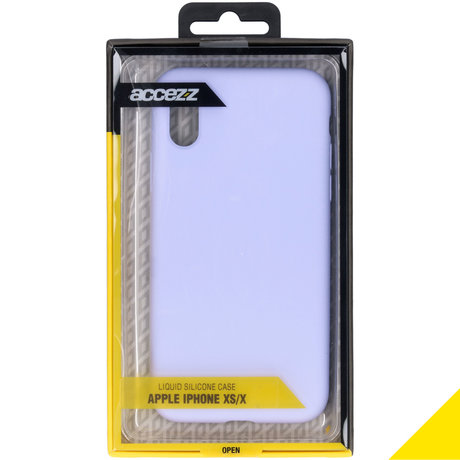 Accezz Liquid Silicone Backcover iPhone Xs / X - Paars (D)