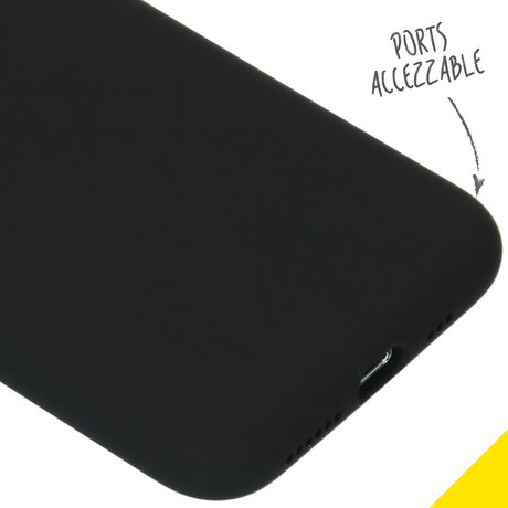 Accezz Liquid Silicone Backcover iPhone 11 Pro - Zwart (D)