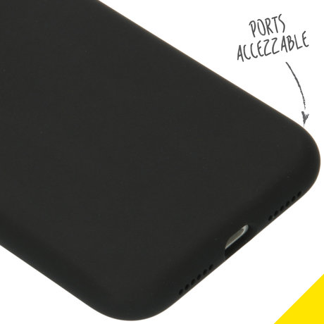 Accezz Liquid Silicone Backcover iPhone 11 - Zwart (D)