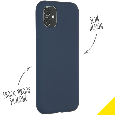 Accezz Liquid Silicone Backcover iPhone 11 - Blauw (D)