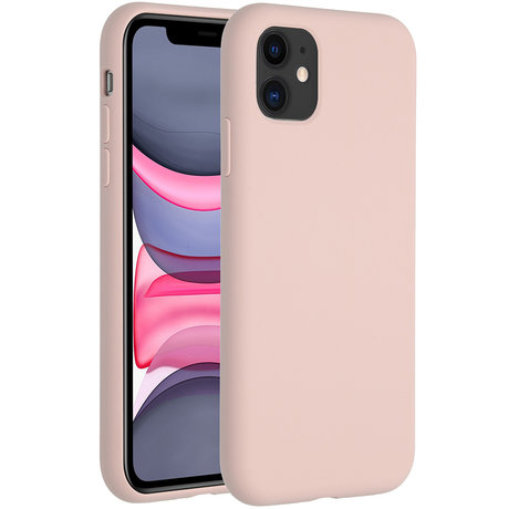 Accezz Liquid Silicone Backcover iPhone 11 - Roze (D)