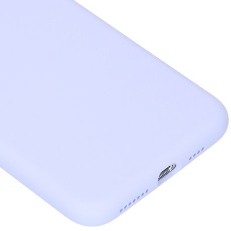 Accezz Liquid Silicone Backcover iPhone 11 Pro Max - Paars (D)