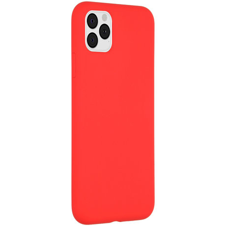 Accezz Liquid Silicone Backcover iPhone 11 Pro Max - Rood (D)