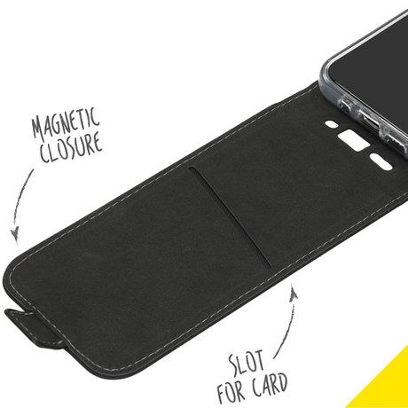Accezz Flipcase iPhone 12 Pro Max - Zwart (D)