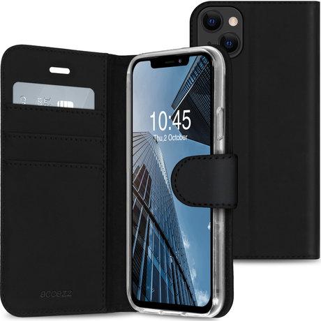 Accezz Wallet Softcase Booktype iPhone 13 Mini - Zwart (D)