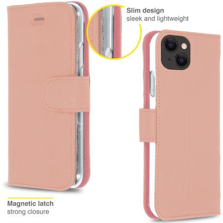 Accezz Wallet Softcase Booktype iPhone 13 Mini - Rosé Goud (D)