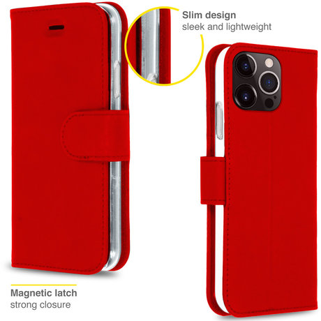 Accezz Wallet Softcase Booktype iPhone 13 Pro - Rood (D)