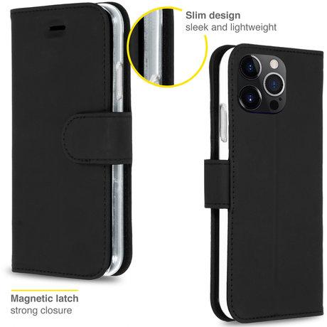 Accezz Wallet Softcase Booktype iPhone 13 Pro Max - Zwart (D)