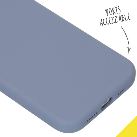Accezz Liquid Silicone Backcover iPhone 12 (Pro) - Lavender Gray (D)