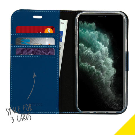 Accezz Wallet Softcase Booktype iPhone 12 Mini - Blauw (D)