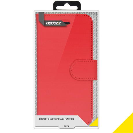 Accezz Wallet Softcase Booktype iPhone 12 Mini - Rood (D)