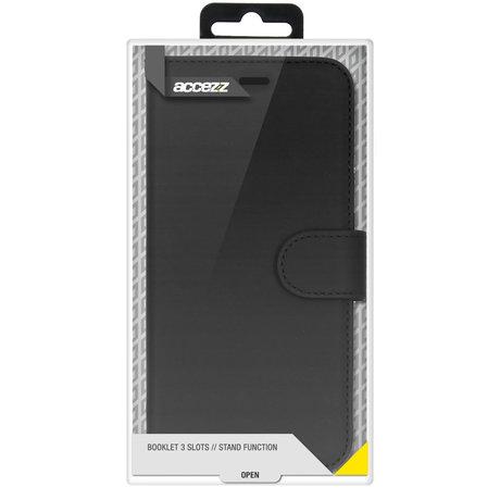 Accezz Wallet Softcase Booktype iPhone 12 (Pro) - Zwart (D)